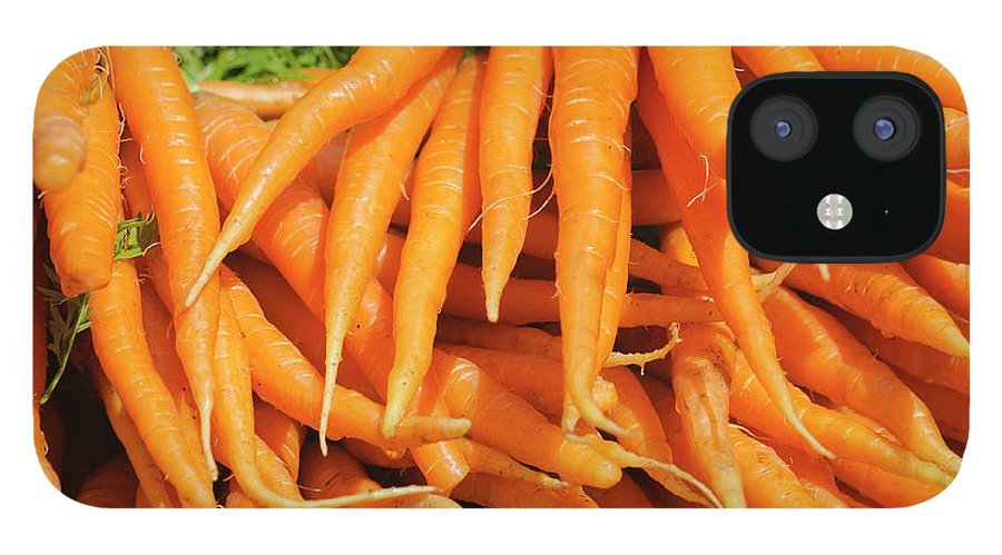Large Group Of Objects IPhone 12 Case featuring the photograph Usa, New York City, Carrots For Sale by Tetra Images