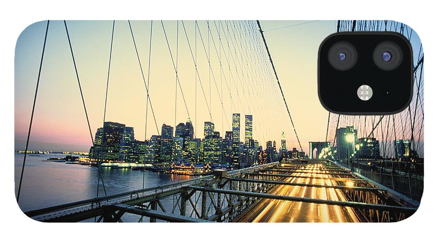 Twin Towers IPhone 12 Case featuring the photograph Usa, New York City, Manhattan, View by Paul Radenfeld
