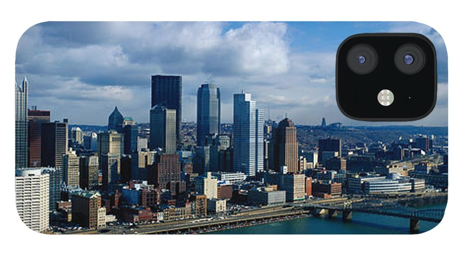 Panoramic iPhone 12 Case featuring the photograph Usa, Pennsylvania, Pittsburgh, Skyline by Jeremy Woodhouse