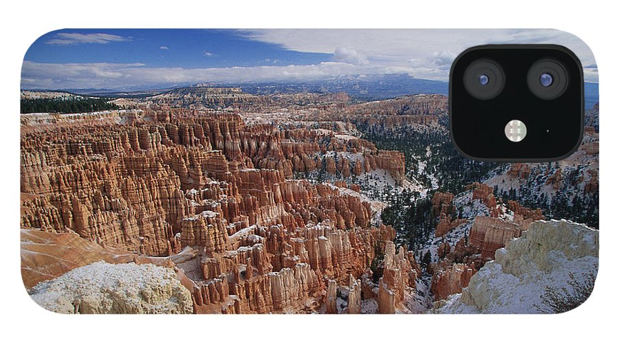 Snow IPhone 12 Case featuring the photograph Usa, Utah, Winter Bryce Canyon by Stan Osolinski