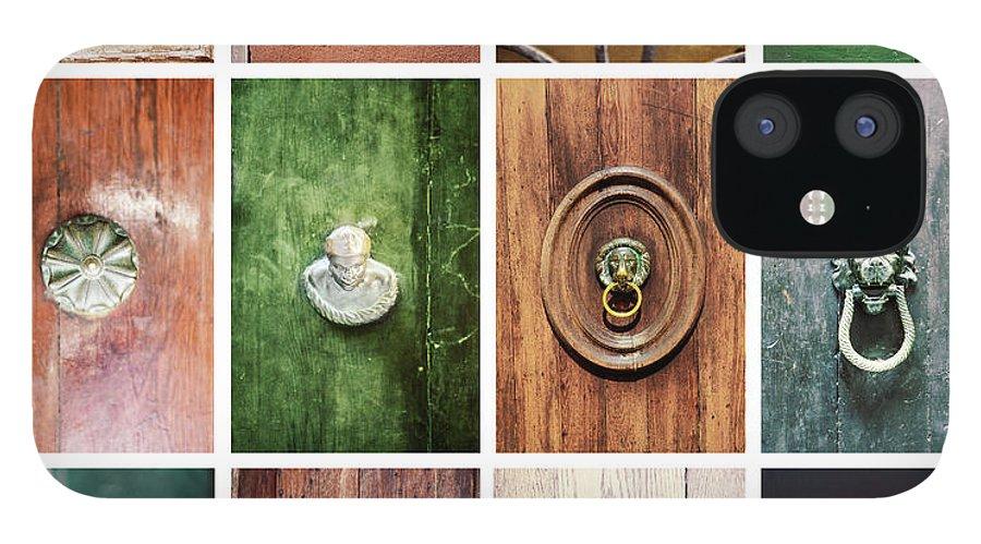 Veneto IPhone 12 Case featuring the photograph Venetian Door Knobs by Dori Oconnell