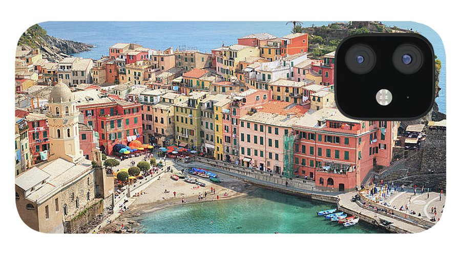Water's Edge IPhone 12 Case featuring the photograph Vernazza by Borchee
