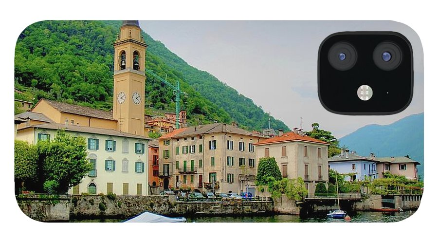 Part Of A Series IPhone 12 Case featuring the photograph View From Laglio On Lake Como by Cranjam