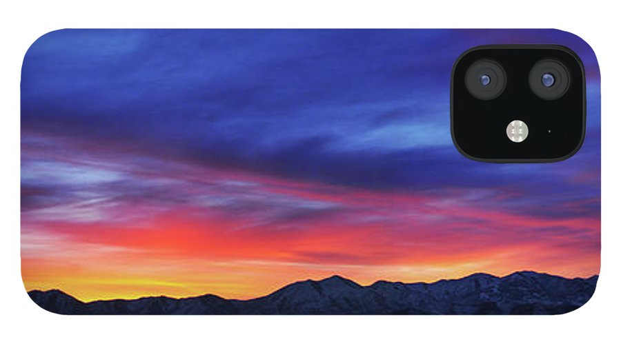 Scenics IPhone 12 Case featuring the photograph View Of City by Utah-based Photographer Ryan Houston