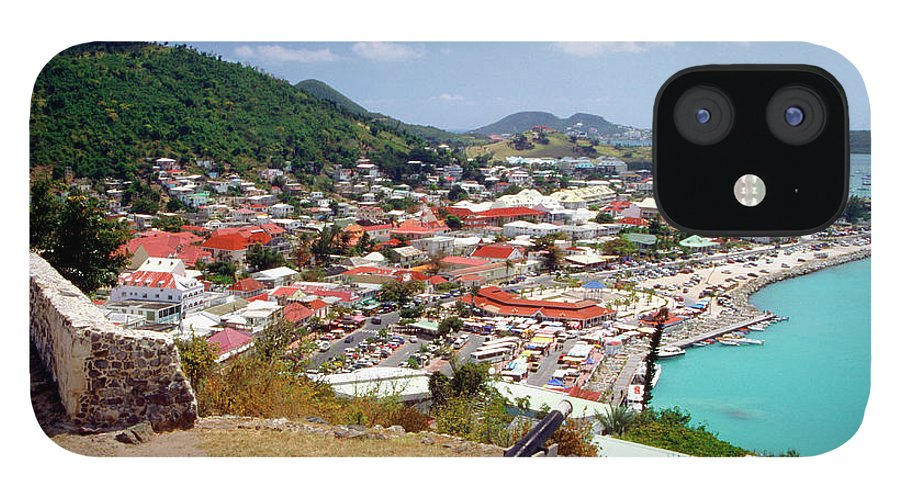Scenics IPhone 12 Case featuring the photograph View Of Marigot Bay From St. Louis by Medioimages/photodisc