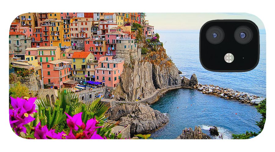 Terre IPhone 12 Case featuring the photograph Village Of Manarola On The Cinque by Jenifoto