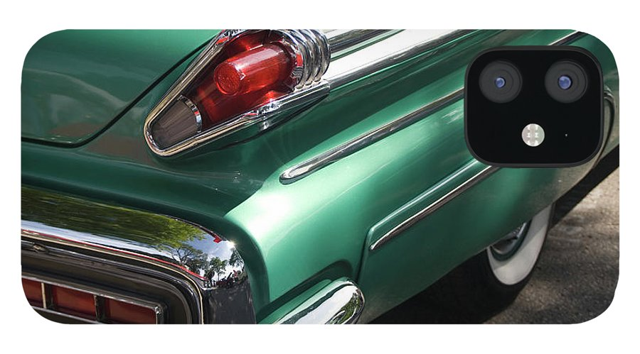 Cool Attitude IPhone 12 Case featuring the photograph Vintage Tail Fin by Sstop