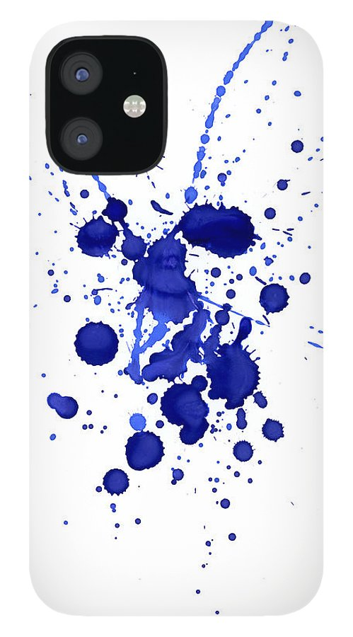 Watercolor Painting IPhone 12 Case featuring the photograph Violet Splashes by Alenchi