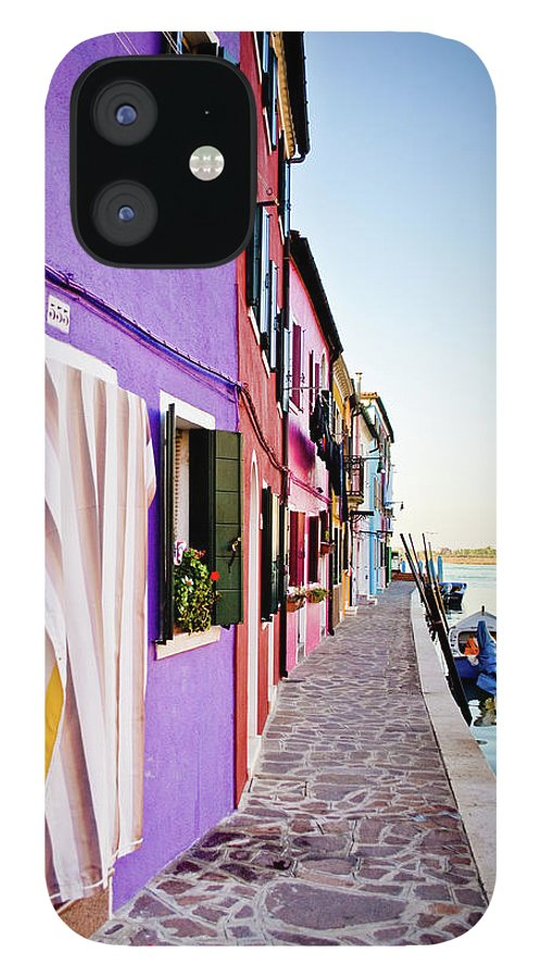Tranquility IPhone 12 Case featuring the photograph Walk Through Burano by A Photo Is Like A Painting.