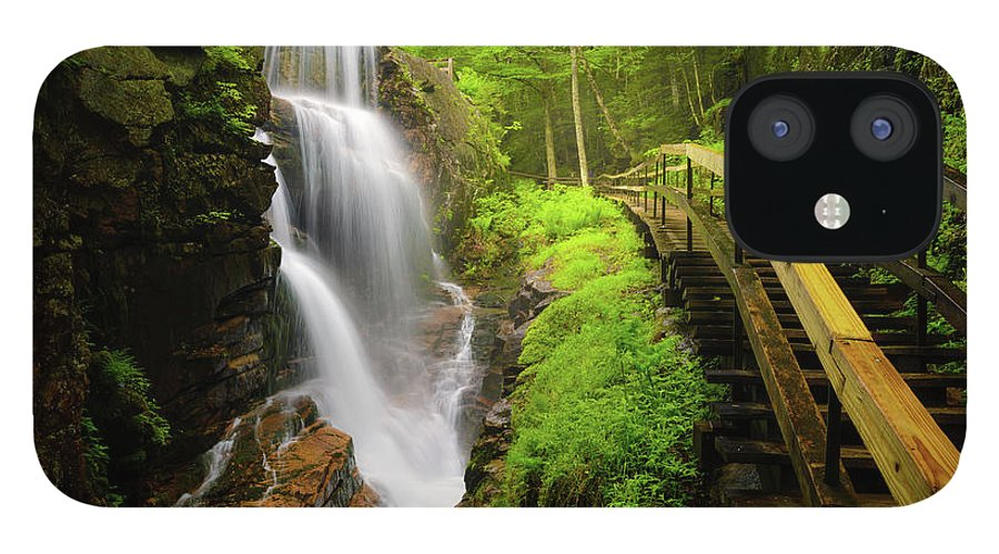 Steps IPhone 12 Case featuring the photograph Water Falls In The Flume by Noppawat Tom Charoensinphon