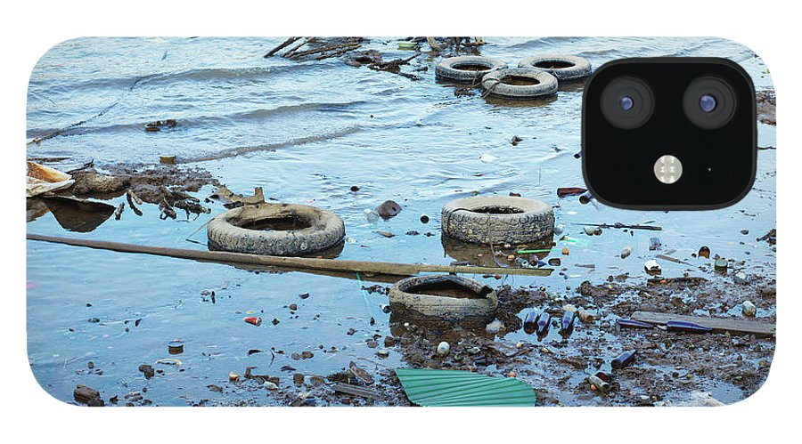 Water's Edge IPhone 12 Case featuring the photograph Water Pollution by Drbouz