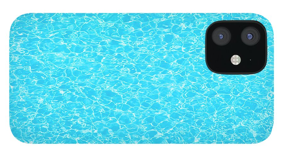 Cool Attitude IPhone 12 Case featuring the photograph Water Wave Pattern Of Swimming Pool by Anddraw