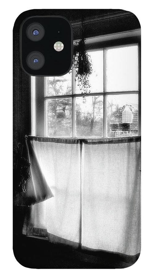 A Kitchen Window IPhone 12 Case featuring the photograph Window Lighting #2 by Harold Silverman - Buildings & Cityscapes