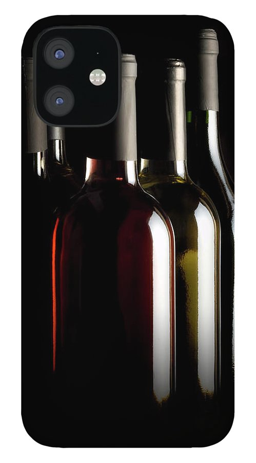 Rose Wine IPhone 12 Case featuring the photograph Wine Bottles by Carlosalvarez