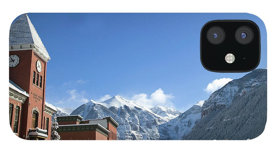 Scenics iPhone 12 Case featuring the photograph Winter Telluride Colorado by Dougberry