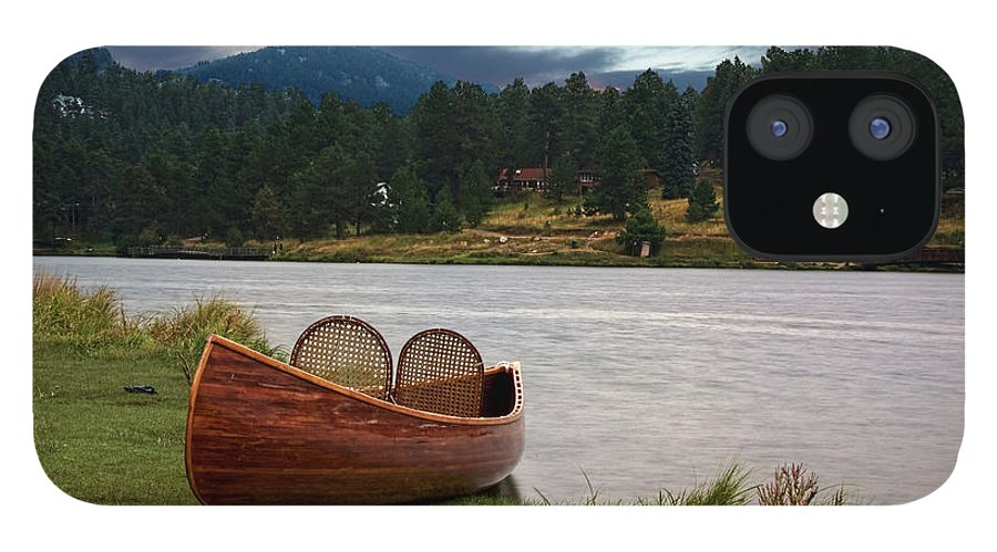 Tranquility IPhone 12 Case featuring the photograph Wood Canoe by Brad Mcginley Photography
