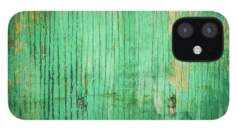 Unhygienic IPhone 12 Case featuring the photograph Wooden Texture by Thepalmer