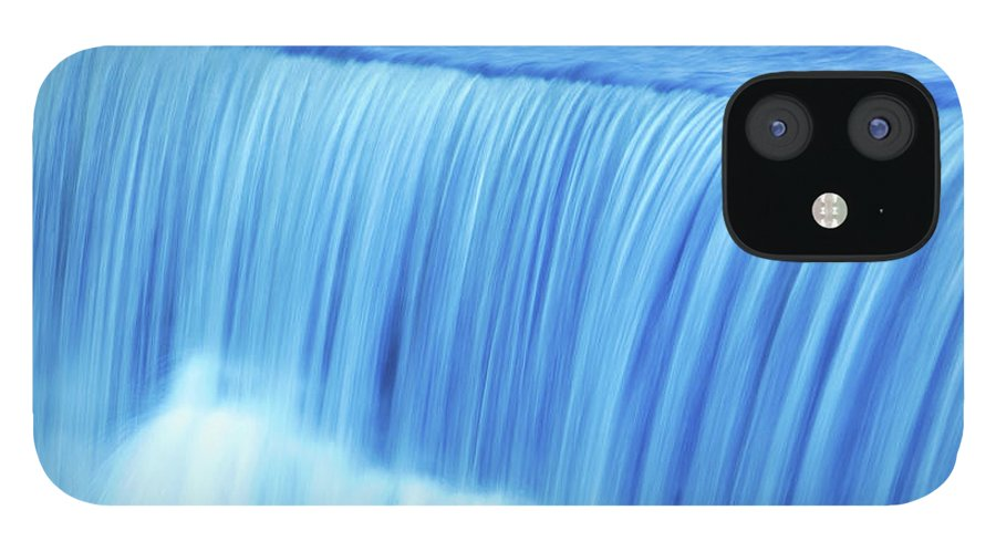 Scenics IPhone 12 Case featuring the photograph Xl Waterfall Close-up by Sharply done