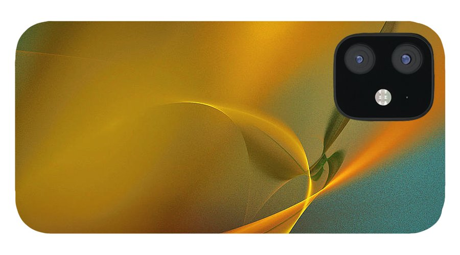Orange Color iPhone 12 Case featuring the photograph Yellow Lights by I Dedicate This Creation To You All Dream Makers... Realeoni