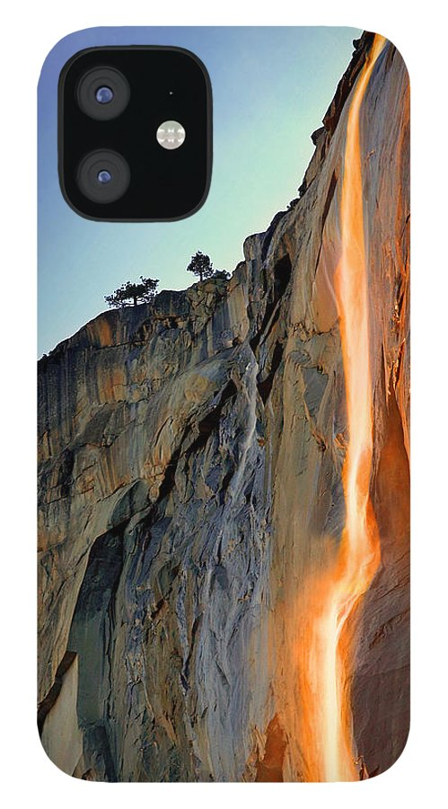 Tranquility IPhone 12 Case featuring the photograph Yosemite Firefall by Provided By Jp2pix.com