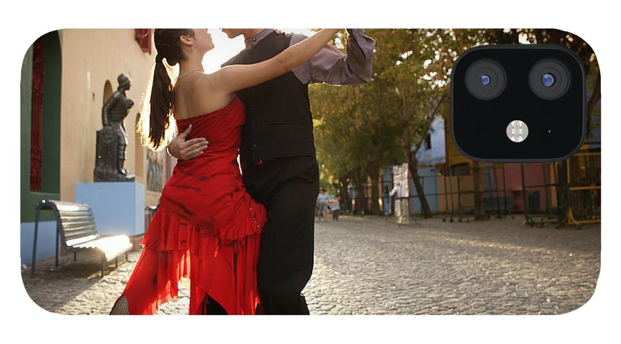 Young Men IPhone 12 Case featuring the photograph Young Couple Dancing Tango In Street by Buena Vista Images