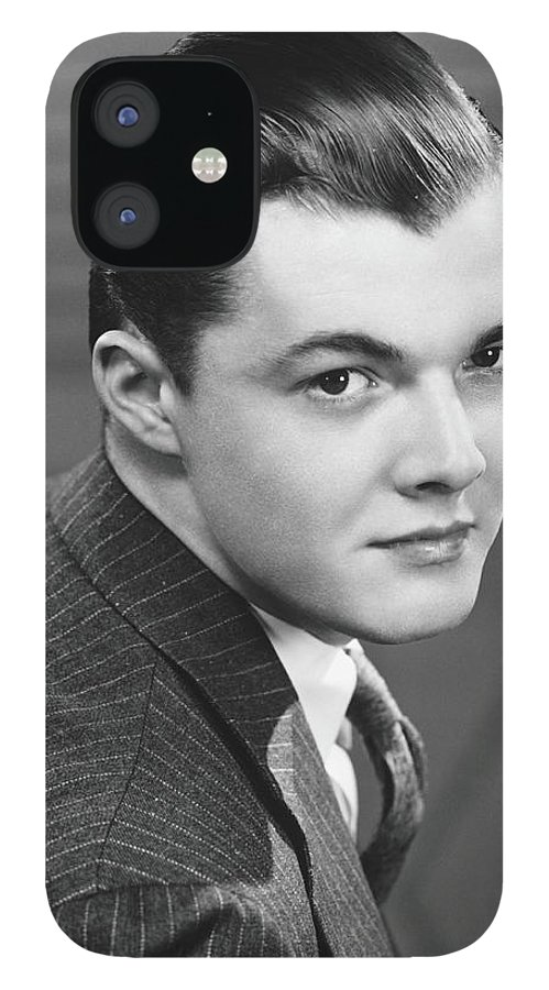 Young Men IPhone 12 Case featuring the photograph Young Man Wearing Pinstripe Jacket by George Marks