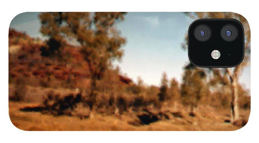 Daintree Australia iPhone 12 Case featuring the mixed media Daintree Australia by Asbjorn Lonvig