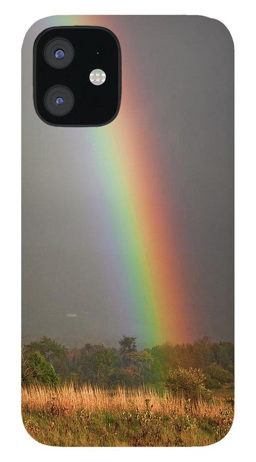 Rainbow IPhone 12 Case featuring the photograph Rainbow by Trevor Slauenwhite