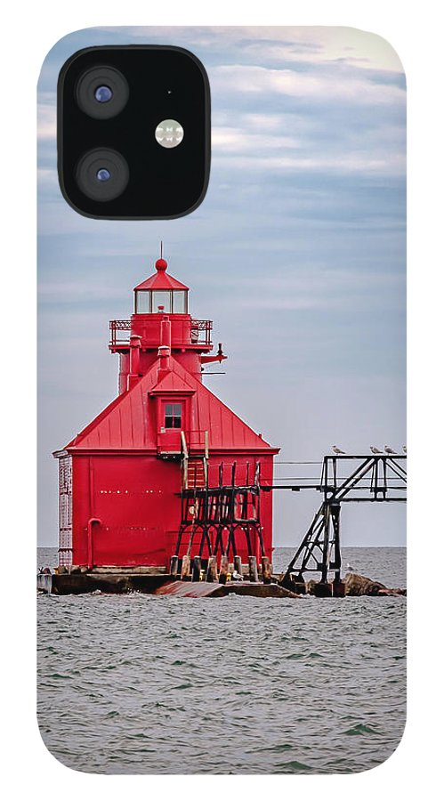 Lighthouse IPhone 12 Case featuring the photograph 20-0607-0037 by Anthony Roma