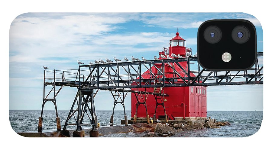 Lighthouse IPhone 12 Case featuring the photograph 20-0607-0041 by Anthony Roma