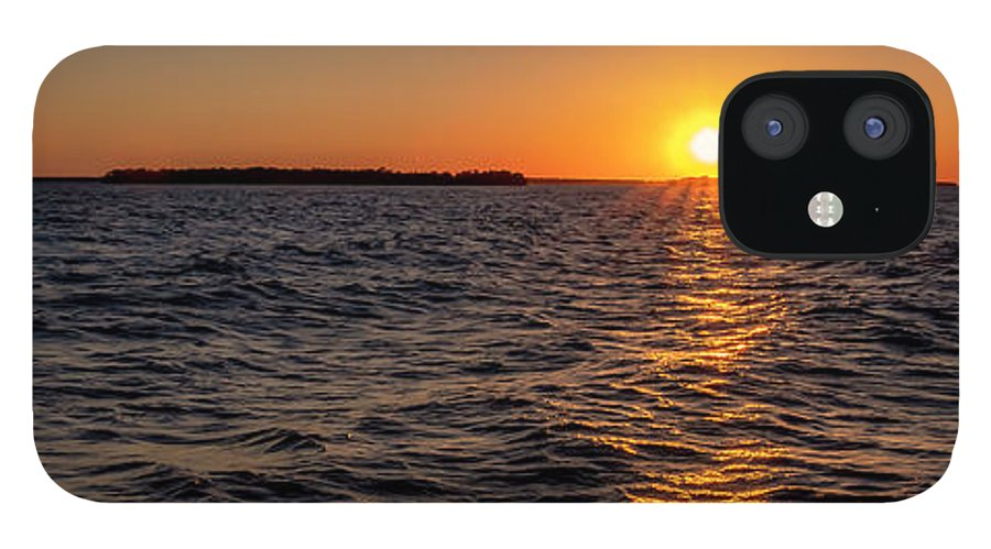 Sunset IPhone 12 Case featuring the photograph 20-0608-0175 Pan by Anthony Roma
