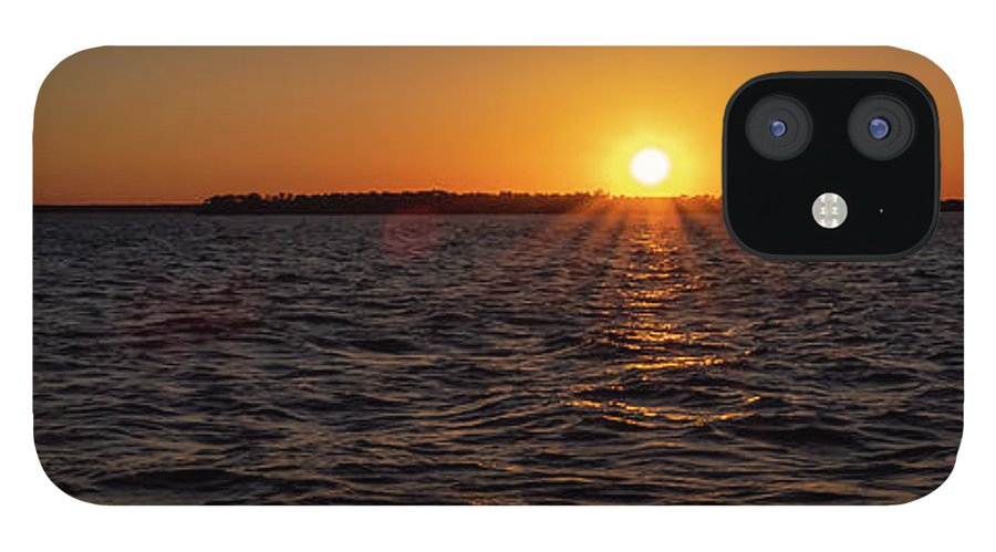 Sunset IPhone 12 Case featuring the photograph 20-0608-0178 Pan by Anthony Roma