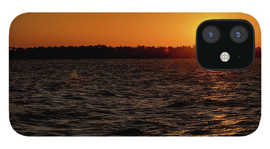 Sunset IPhone 12 Case featuring the photograph 20-0608-0179 by Anthony Roma