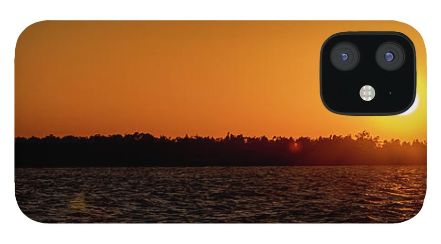 Sunset IPhone 12 Case featuring the photograph 20-0608-0179 Pan by Anthony Roma