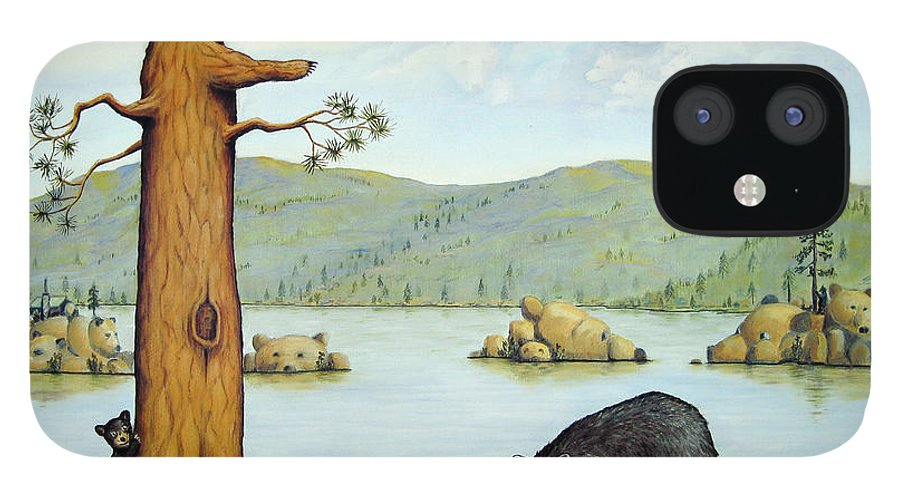 Bears IPhone 12 Case featuring the painting 27 Bears by Jerome Stumphauzer
