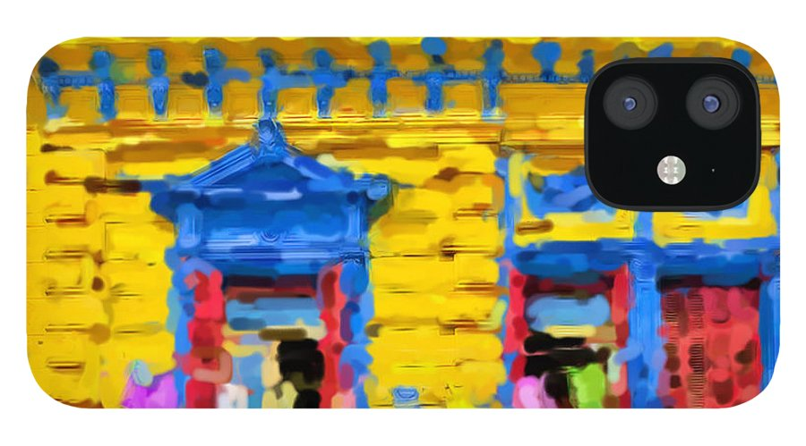 Buenos Aires iPhone 12 Case featuring the mixed media Buenos Aires by Asbjorn Lonvig
