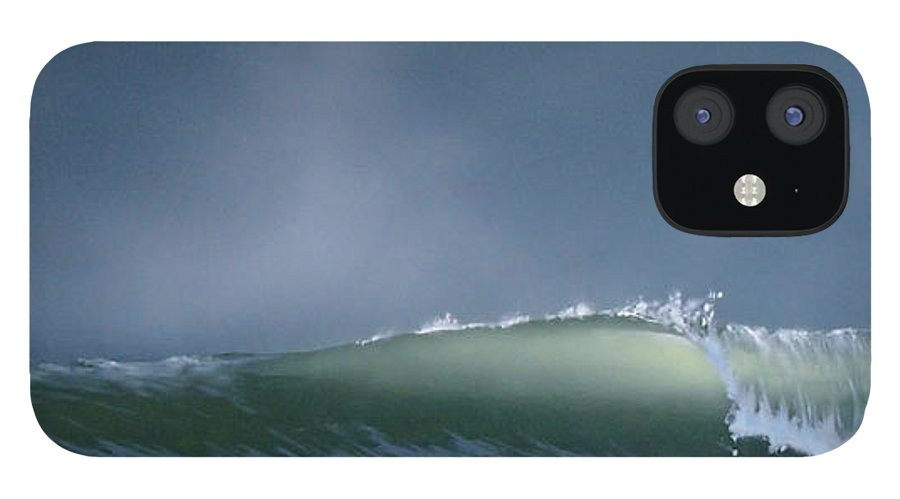 Wave IPhone 12 Case featuring the painting Untitled 7 by Philip Fleischer