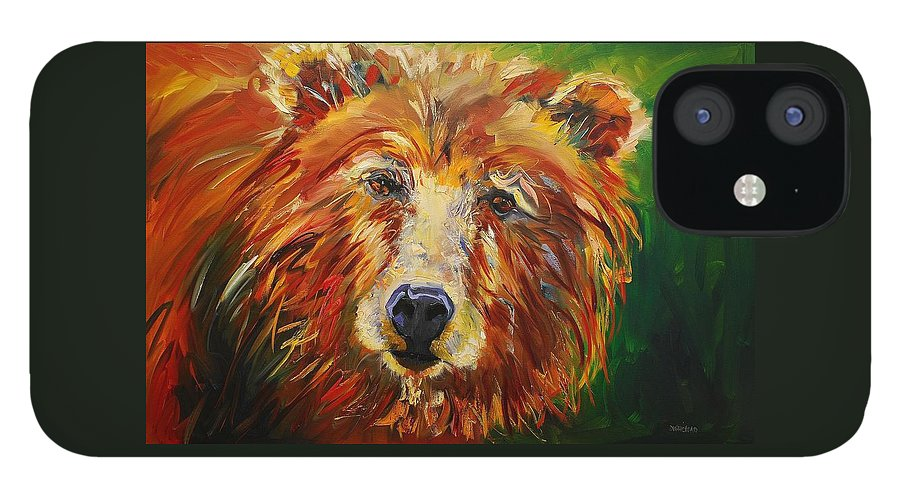 Bear iPhone 12 Case featuring the painting A Bunch Of Bear by Diane Whitehead