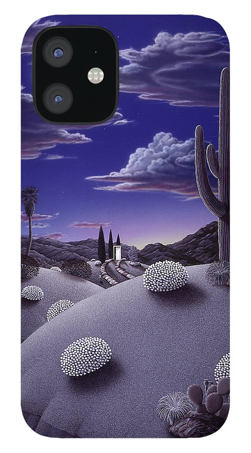 Desert iPhone 12 Case featuring the painting After the Rain by Snake Jagger
