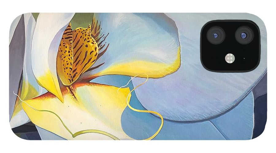 Orchid iPhone 12 Case featuring the painting All You Need is Now by Hunter Jay