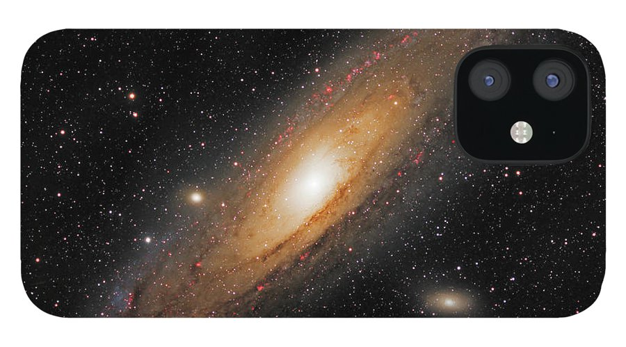 Andromeda Galaxy IPhone 12 Case featuring the photograph Andromeda Galaxy by Prabhu Astrophotography