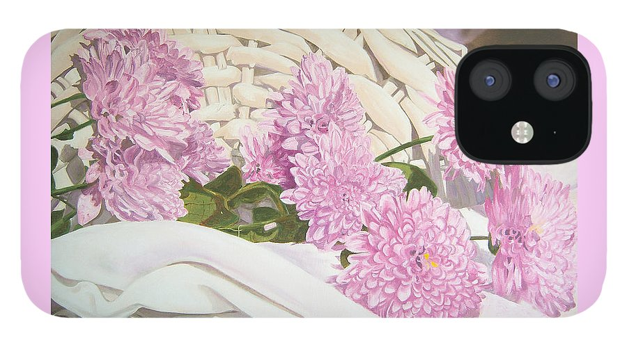Fine Art Print IPhone 12 Case featuring the painting Floral Art Print For Sale Still Life Oil Painting by Diane Jorstad