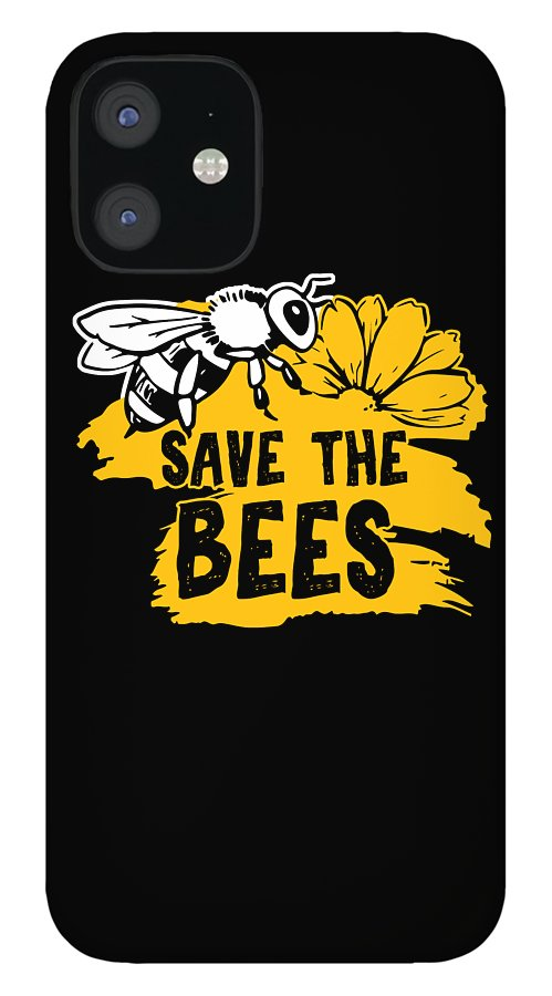 Bee IPhone 12 Case featuring the digital art Bee Beehive Beekeeper Honeycomb Honeybee Gift Save The Bees by Thomas Larch