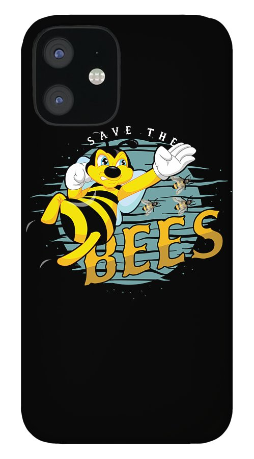 Bee IPhone 12 Case featuring the digital art Beehive Bee Keepers Beekeeper Gifts Honeycomb Honey Save The Bees Gift by Thomas Larch