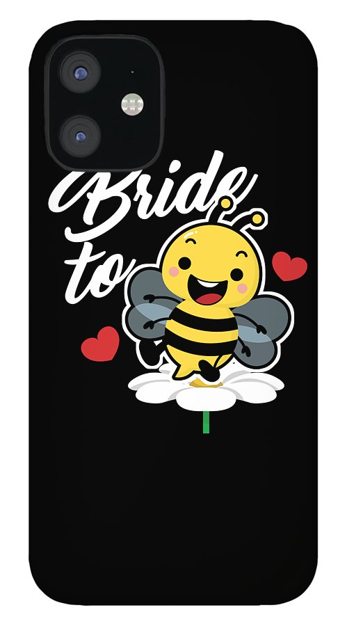 Bee IPhone 12 Case featuring the digital art Bees Beehive Keepers Beekeeper Honeycomb Honeybee Gift Funny Bride To Bee by Thomas Larch