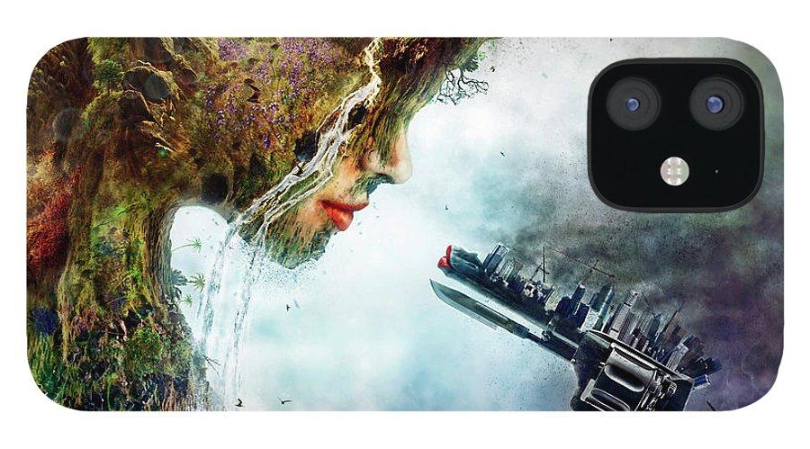 Betrayal iPhone 12 Case featuring the digital art Betrayal by Mario Sanchez Nevado