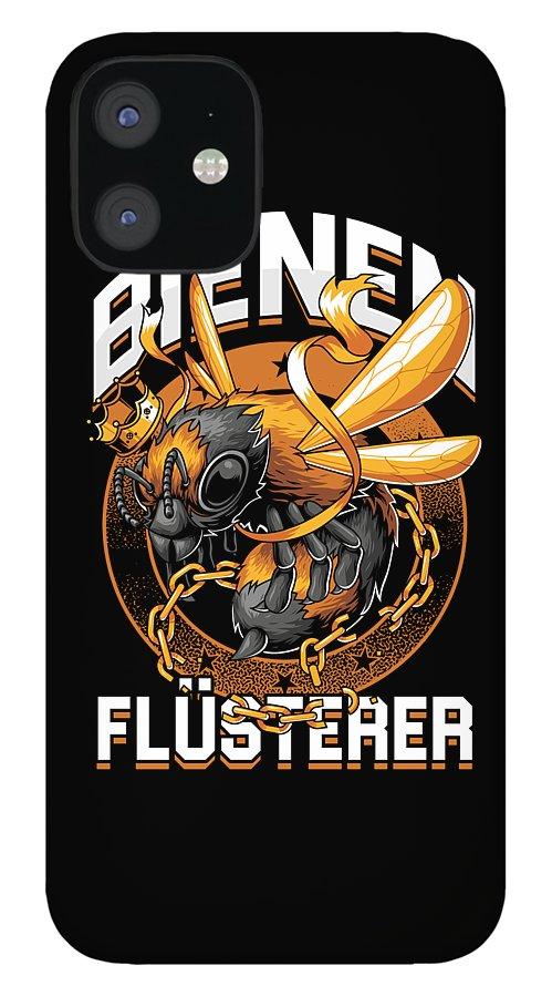 Bee IPhone 12 Case featuring the digital art Bienen Flsterer Bee Beekeeper Honeycomb Gift by Thomas Larch