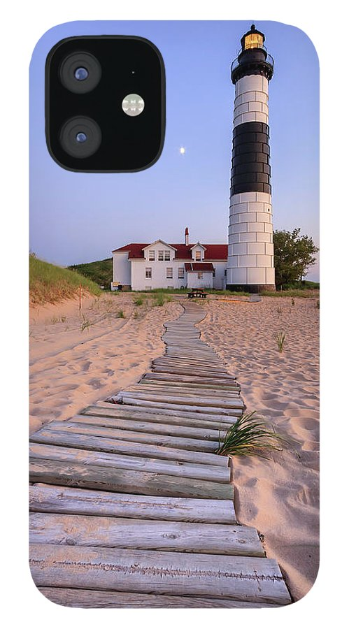 3scape Photos IPhone 12 Case featuring the photograph Big Sable Point Lighthouse by Adam Romanowicz