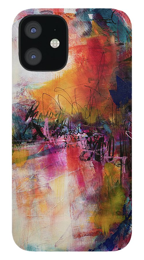 Abstract IPhone Case featuring the painting Birth by Lynda Goldman