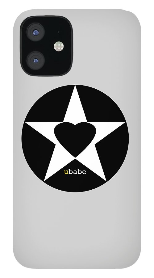 American Love Heart IPhone 12 Case featuring the painting Black love by Charles Stuart